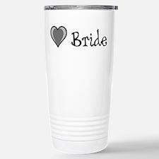 Black 1 Heart - Bride Travel Mug