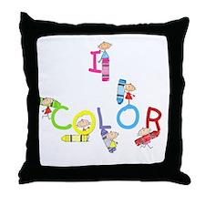 I Color Throw Pillow
