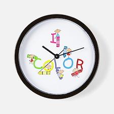 I Color Wall Clock
