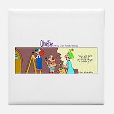 Cute Surprise Tile Coaster
