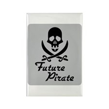 Future Pirate Rectangle Magnet