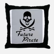 Future Pirate Throw Pillow