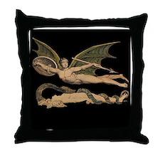 Satan and Eve Throw Pillow
