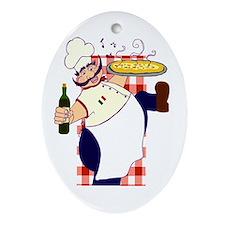 Italian Chef Oval Ornament