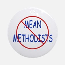 No Mean Methodists Ornament (Round)