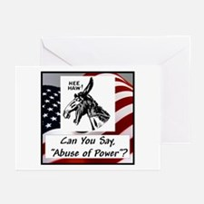 """Abuse of Power"" Greeting Cards (Pk of 10)"