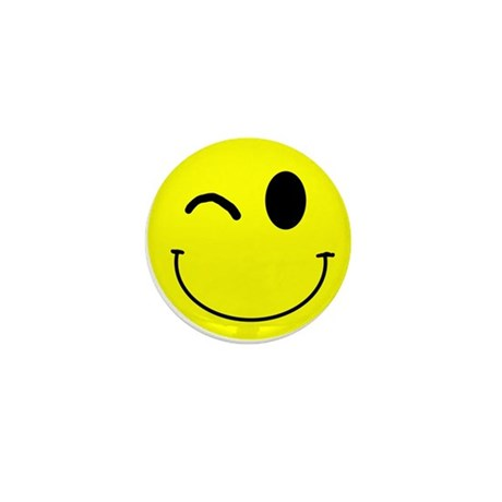 Winking Smiley Mini Button (100 pack)