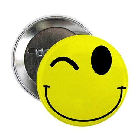 "Winking Smiley 2.25"" Button (10 pack)"