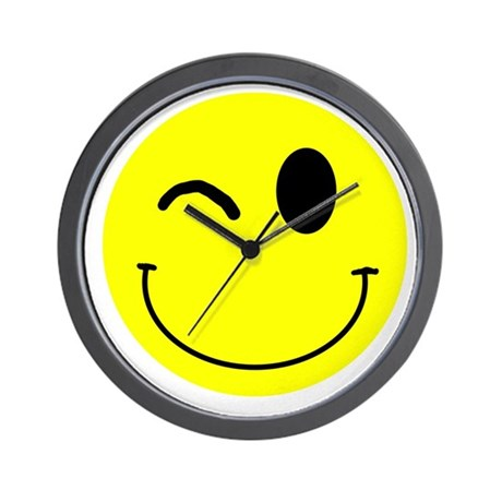 Winking Smiley Wall Clock