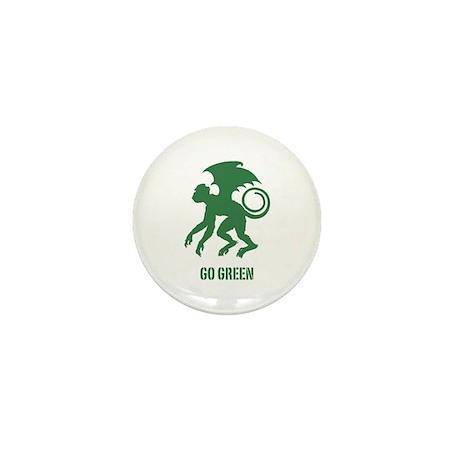Go Green Flying Monkey Mini Button