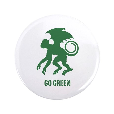 "Go Green Flying Monkey 3.5"" Button"