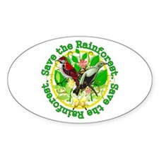 Save the Rainforest v2 Oval Decal