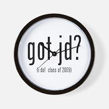 got jd? (i do! class of 2009) Wall Clock