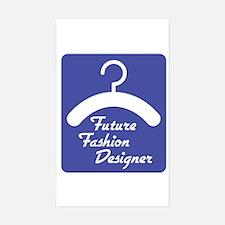 Future Fashion Designer Rectangle Decal