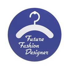 Future Fashion Designer Ornament (Round)