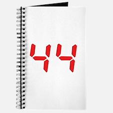 44 fourty-four red alarm cloc Journal