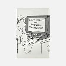 Artificial Intelligence Cartoon 1 Rectangle Magnet