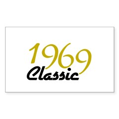 1969 Classic Rectangle Sticker 10 pk)