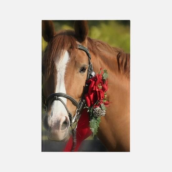 Christmas Horse Rectangle Magnet