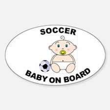 Soccer Baby on Board Oval Decal