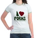 I Heart Forks, WA - Twilight Jr. Ringer T-Shirt
