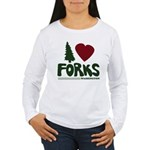 I Heart Forks, WA - Twilight Women's Long Sleeve T