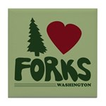 I Heart Forks, WA - Twilight Tile Coaster