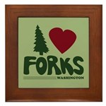 I Heart Forks, WA - Twilight Framed Tile