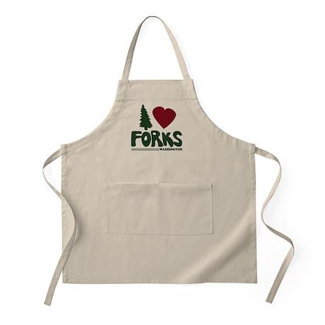 I Heart Forks, WA - Twilight BBQ Apron