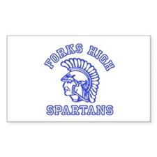 Forks High Spartans - Twilight Rectangle Decal