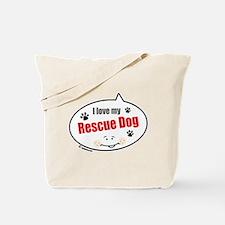 Love Rescue Dog Tote Bag