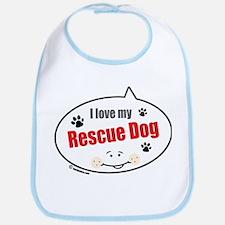 Love Rescue Dog Bib