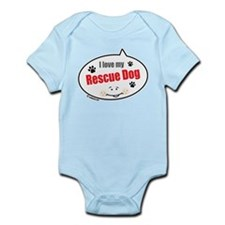 Love Rescue Dog Infant Bodysuit
