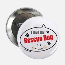 "Love Rescue Dog 2.25"" Button"