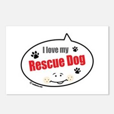 Love Rescue Dog Postcards (Package of 8)
