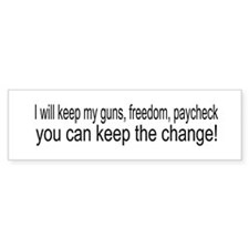 Keep The Change Bumper Bumper Sticker