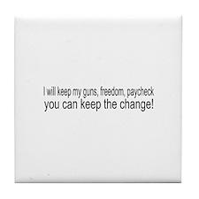 Keep The Change Tile Coaster