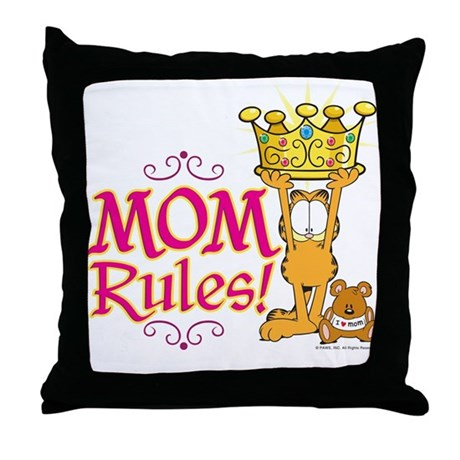 Mom Rules! Throw Pillow by garfield