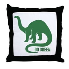 Go Green Dinosaur Throw Pillow