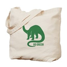Go Green Dinosaur Tote Bag