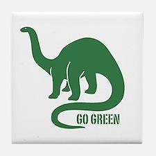Go Green Dinosaur Tile Coaster
