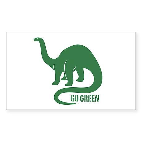 Go Green Dinosaur Rectangle Sticker