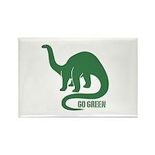 Go Green Dinosaur Rectangle Magnet