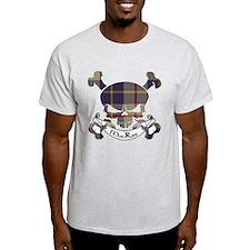 MacRae Tartan Skull T-Shirt