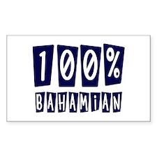100% Bahamian Rectangle Decal