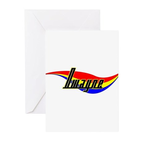 Dwayne's Power Swirl Name Greeting Cards (Package