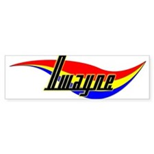 Dwayne's Power Swirl Name Bumper Bumper Sticker