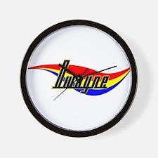 Dwayne's Power Swirl Name Wall Clock