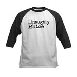 Nice / Naughty Kids Baseball Jersey
