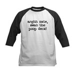 Swab The Poop Deck (Pirate) Kids Baseball Jersey